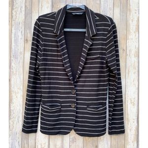 Tart Cotton Knit Striped Blazer